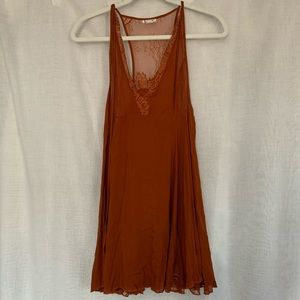 NWOT Free People Rust/Burnt Orange Lace Dress